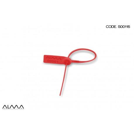 Sigillo di sicurezza regolabile a strozzo colore rosso SM0115