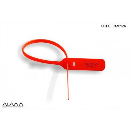 Sigillo di sicurezza regolabile a strozzo colore rosso SM0124