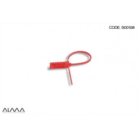 Sigillo di sicurezza a strozzo senza inserto colore rosso S00128