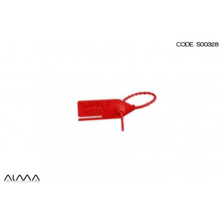Sigillo di sicurezza a strozzo senza inserto colore rosso S00328