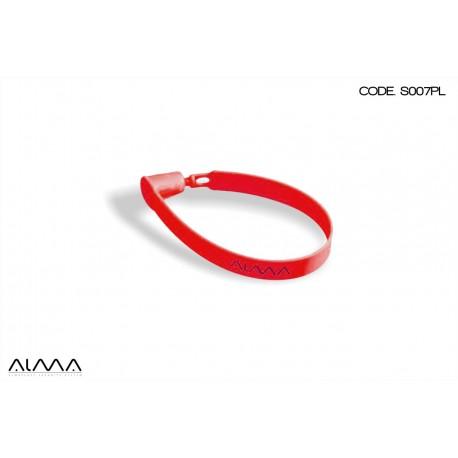 Sigillo di sicurezza a braccialetto colore rosso S007PL