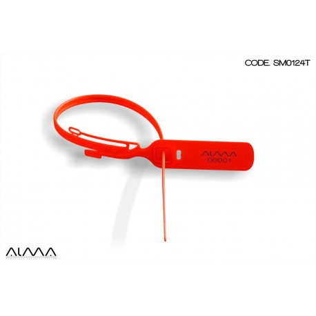 Sigillo di sicurezza regolabile a strozzo colore rosso SM0124T
