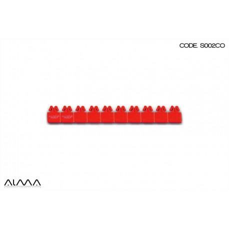 Sigillo di sicurezza regolabile con inserto rosso SP0102