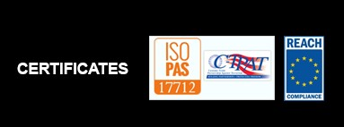 Certifications ISO 17712 e REACH (Regolamento CE 1907/2006)