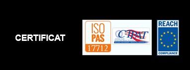 Certificat ISO 17712 e REACH (Regolamento CE 1907/2006)