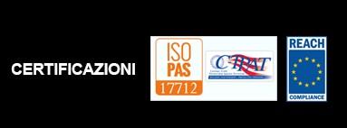 Certificazioni ISO 17712 e REACH (Regolamento CE 1907/2006)